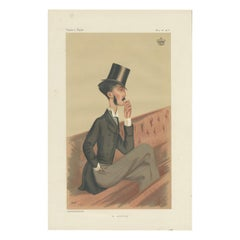 Antique Print of the Earl of Roden Published in the Vanity Fair, '1876'