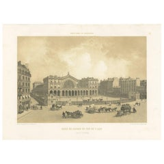 Antique Print of the East Station in Paris by Benoist, '1861'