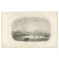 Antique Print of the Harbor of Rio de Janeiro by D'Urville (1853)