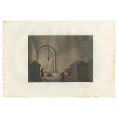 Antique Print of the Interior of the Chapel of Mount Calvary by Ferrario '1831'