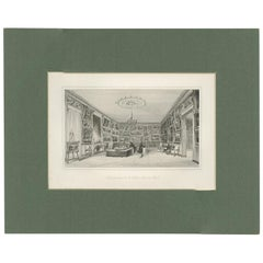 Antique Print of the Interior of the Gallery of Paul Durand-Ruel, circa 1880