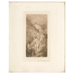 Antique Print of 'The Judgment of Paris' Made After F. Boucher '1902'