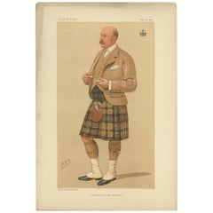 Antique Print of the Marquis of Breadalbane Published in the Vanity Fair, '1894'