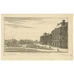 Antique Print of the Palais d'Orléans 'Paris, France' by G. Perrelle, circa 1660