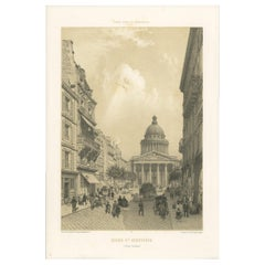 Antique Print of the Panthéon by Benoist, '1861'