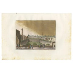 Antique Print of the POOL of Bethesda by Ferrario, '1831'