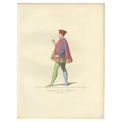Antique Print of the Prince of Rimini, by Bonnard, 1860