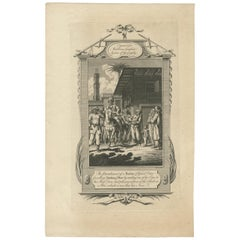 Antique Print of the Punishment of a Butcher by Middleton 'c.1778'