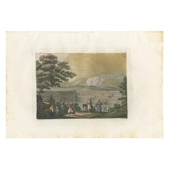 Antique Print of the Reservoir of the Sealed Fountain by Ferrario '1831'