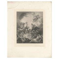 Antique Print of 'The Rising of the Sun' Made after F. Boucher '1902'