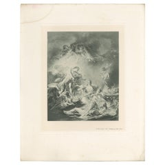 Antique Print of 'The Setting of the Sun' Made after F. Boucher '1902'
