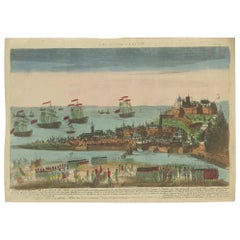 Antique Print of the Siege of Nice by Chereau, 'circa 1790'