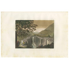 Antique Print of the Spring and Pool of Siloam by Ferrario '1831'