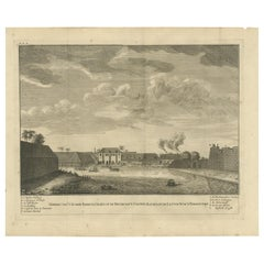 Antique Print of the Sugar Warehouse of Batavia by Valentijn, '1726'