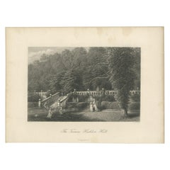 Antique Print of the Terrace of Haddon Hall by Appleton '1875'