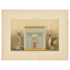 Antique Print of the Tomb in the Valley of Assassif by Binion, 1887