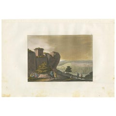 Antique Print of the Tomb in the Valley of Jehoshaphat by Ferrario '1831'