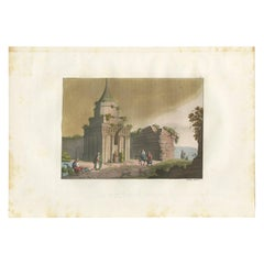 Antique Print of the Tomb of Absalom by Ferrario, '1831'