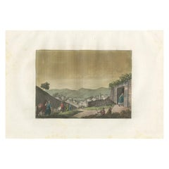 Antique Print of the Tomb of Lazarus by Ferrario '1831'