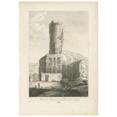 Antique Print of the Tropaeum Alpium by Piringer, 'circa 1780'