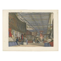 Antique Print of the Tunisian Stand at the Great Exhibition by Dickinson, '1854'