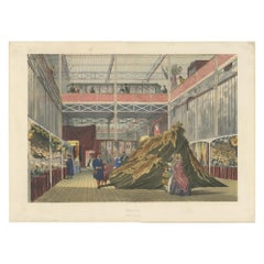 Antique Print of the Tunisian Textiles stand at the Great Exhibition '1854'