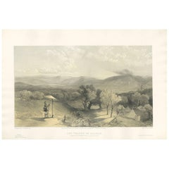 Antique Print of the Valley of Baidar 'Crimean War' by W. Simpson, 1855