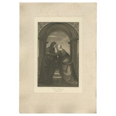 Antique Print of 'The Visitation' made after Albertinelli 'c.1890'
