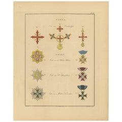 Antique Print of various Medals of Parma & Poland by G.L. de Rochemont, 1843