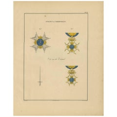 Antique Print of Various Medals of Sweden & Norway 'II' by Rochemont, 1843