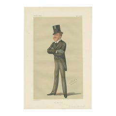 Antique Print of Viscount Macduff Published in the Vanity Fair, 1876