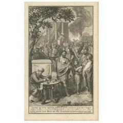 Antique Print Religion 'Joshua Makes a Convenant with God' by De Hondt, 1728
