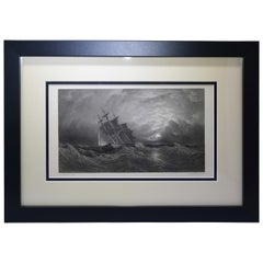 "Antique Print, ""Ship in the Storm"""