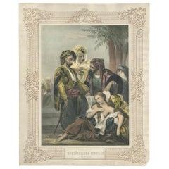Antique Print Slave Market by Hartwich, circa 1850