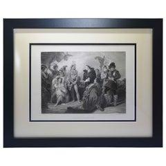 "Antique Print, ""Spaniards & Peruvians"""
