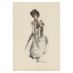 Antique Print 'The Cotillion' Made after H.C. Christy '1908'