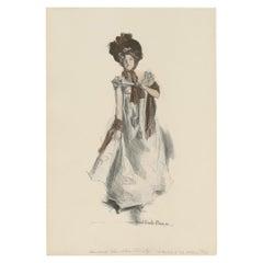 Antique Print 'The Cotillion' Made after H.C. Christy '1908'