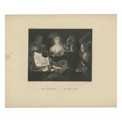 Antique Print 'The Empty Jug' by Fleischmann, circa 1865