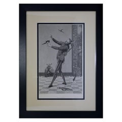 "Antique Print, ""The Jester"""