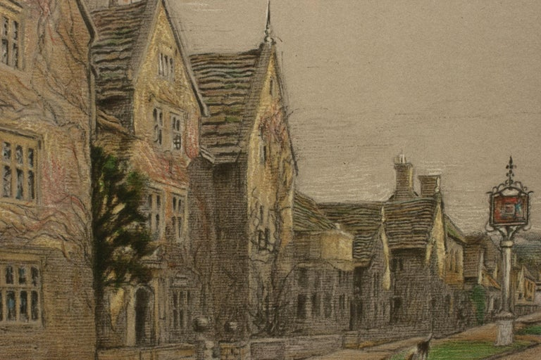 Antique Print, The Lygon Arms, Broadway by Cecil Aldin In Good Condition For Sale In Oxfordshire, GB