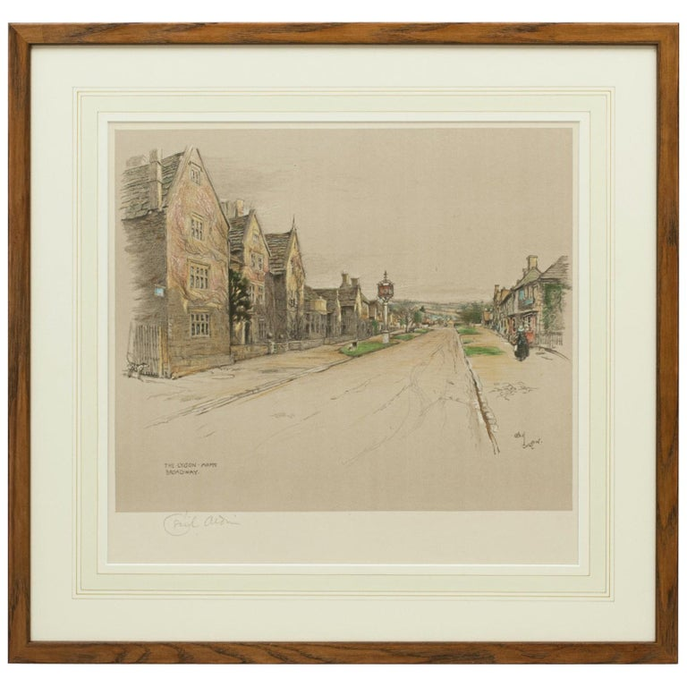 Antique Print, The Lygon Arms, Broadway by Cecil Aldin For Sale