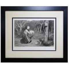 "Antique Print, ""The Shrine in the Forrest"""