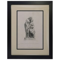 """Antique Print, """"The Sisters of Bethany"""""""