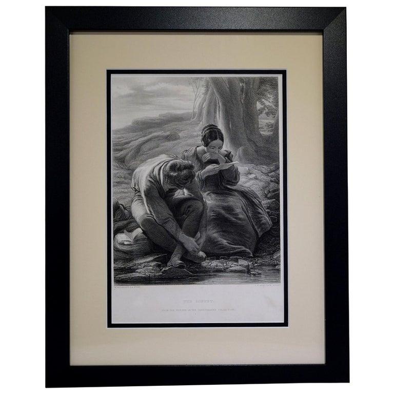 """Antique Print, """"The Sonnet"""" For Sale"""