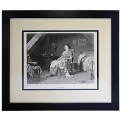 """Antique Print, """"The Weary"""""""