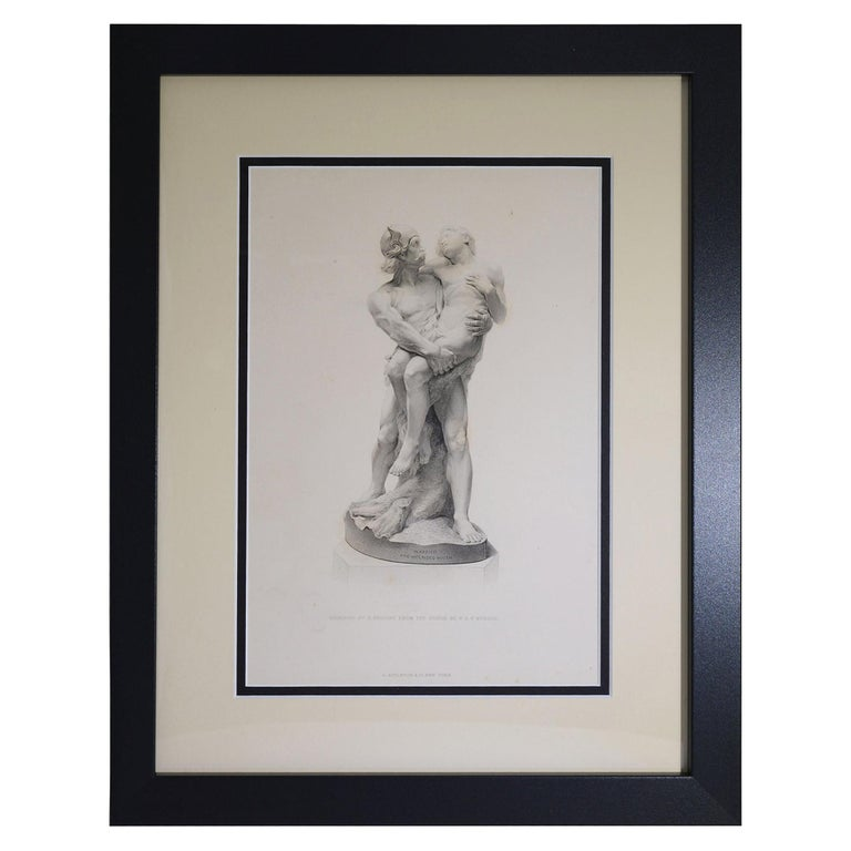 """Antique Print - """"Warrior and Wounded Youth"""" For Sale"""