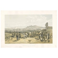Antique Print with a View of Kertch 'Crimean War' by W. Simpson, 1855