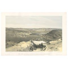 Antique Print with a View of Sebastopol 'Crimean War' by W. Simpson, 1855