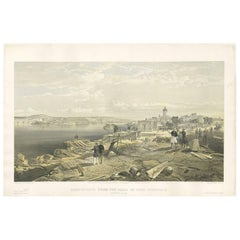 Antique Print with a View of Sebastopol II 'Crimean War' by W. Simpson, 1855