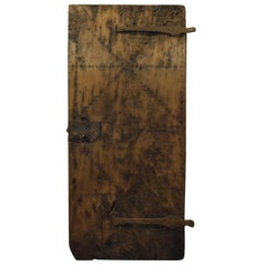 Antique Prison Door in a Single Wooden Planking, 18th Century, France